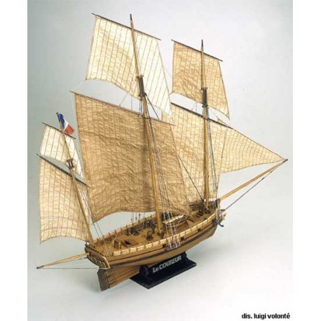 LE COUREUR french lugger 1776