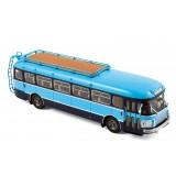BUS SAVIEM SC1 bleu TRANSPORT SCOLAIRE 1/43