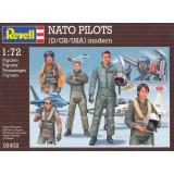 NATO PILOTES (D/GB/USA) moderne.REVELL 2402