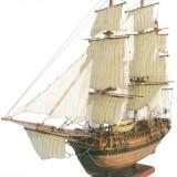 BATEAU STATIQUE HISTORIQUE - H.M.S BOUNTY (NATUREL) 100x36x77cm