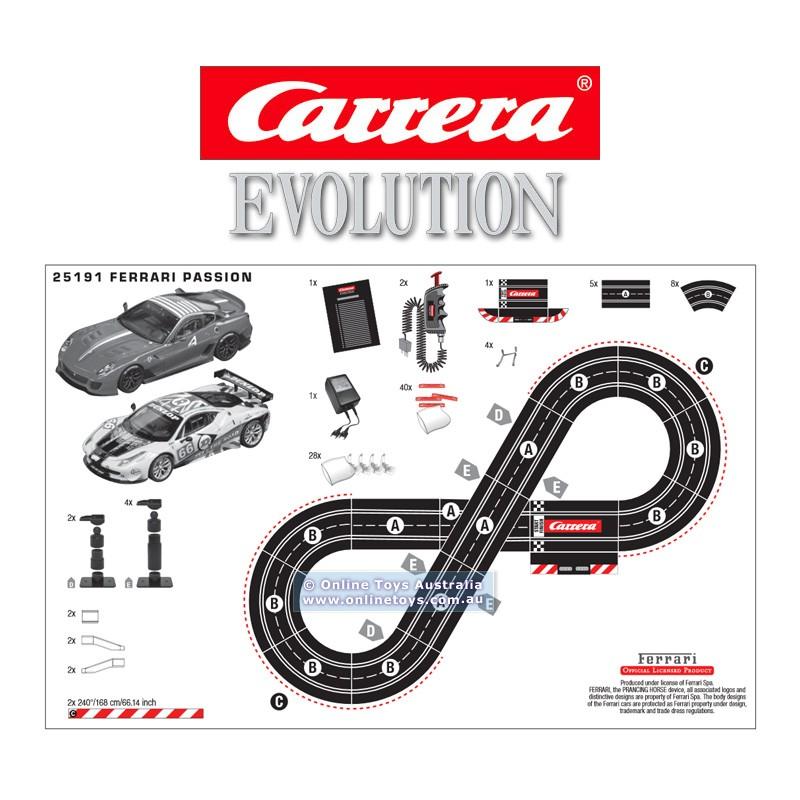 circuit routier carrera evolution 1 32 ferrari passion ref 25191. Black Bedroom Furniture Sets. Home Design Ideas