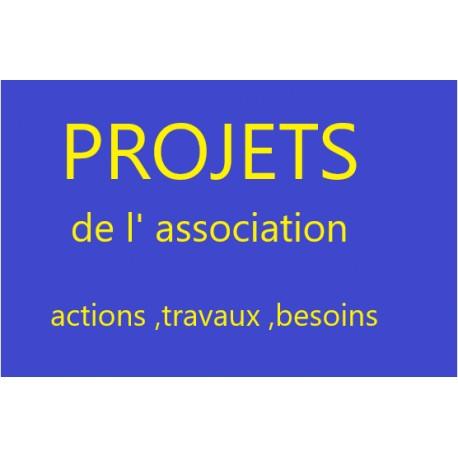 PROJETS de l association