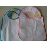 bavoir pour bébé ( rose ou bleu )